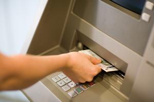 Uttag av Euro i automat